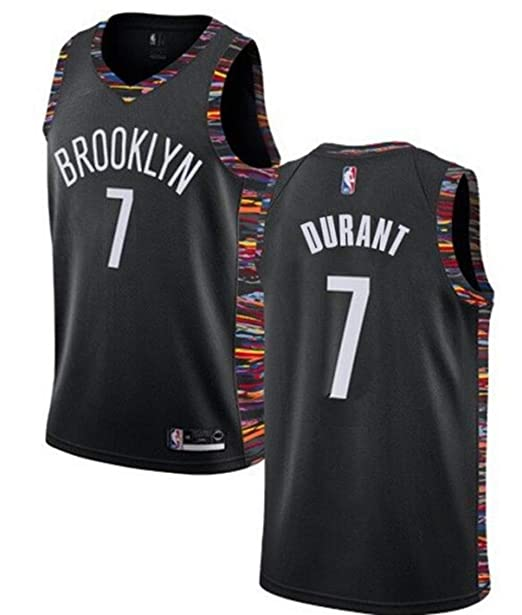 innovative design 7eefa 1b1b3 VF LSG Men's Brooklyn Nets #7 Kevin Durant Jersey Black City Edition