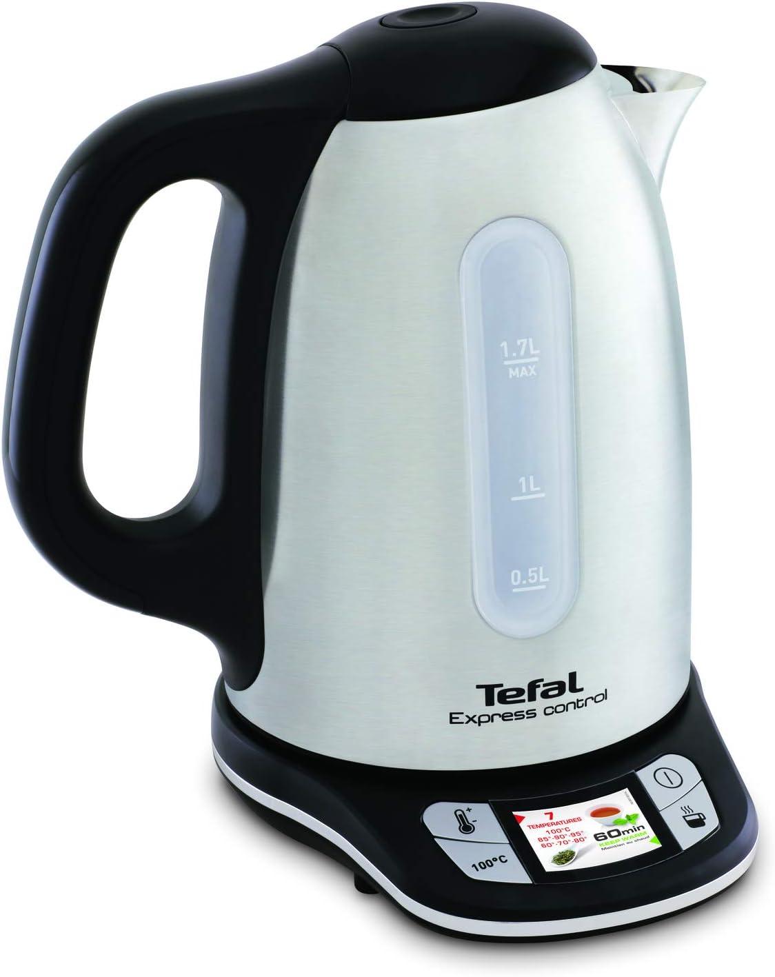 Tetera el/éctrica Acero inoxidable Tefal Express Control KI240D 1.7L 2400W Negro