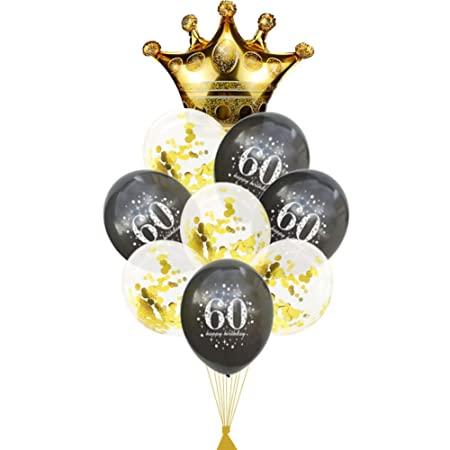 FVNRDS Globos Globo del 60 cumpleaños 60 años Decoraciones ...
