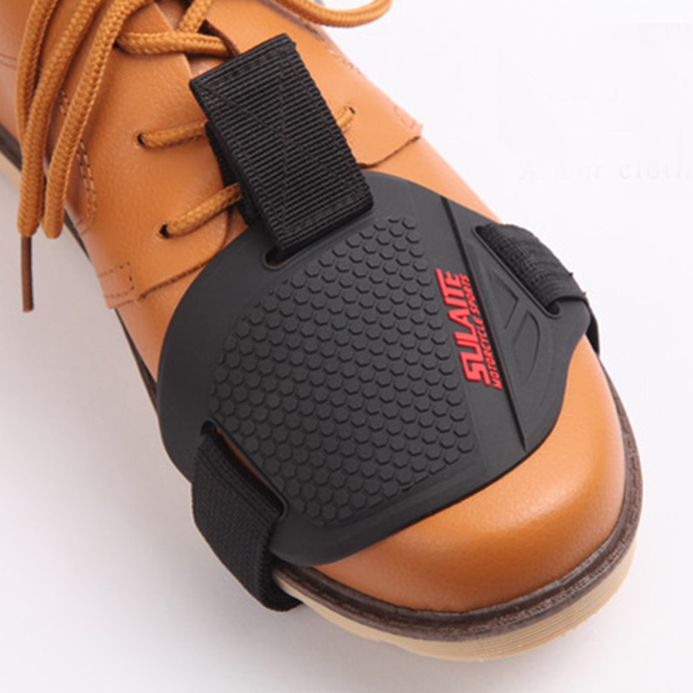 Demiawaking Motorcycle Motorbike Gear Shift Pad Cover Shoe Boot Protector Protective Boot Accessories 4bw2mr3