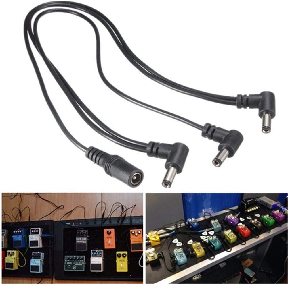 SUNXK Cable de adaptador de divisor de fuente de alimentación de cadena de pedal de efecto de guitarra de 9 V de 3 vías for instrumentos musicales Accesorios de guitarra baja Piezas SUNXK