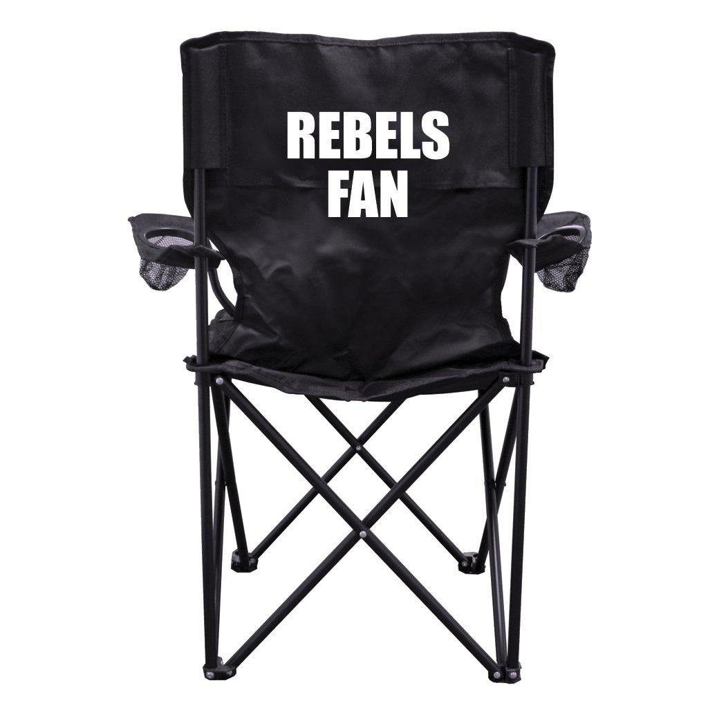 Rebelsファンブラック折りたたみキャンプ椅子with Carryバッグ B00N18BF02