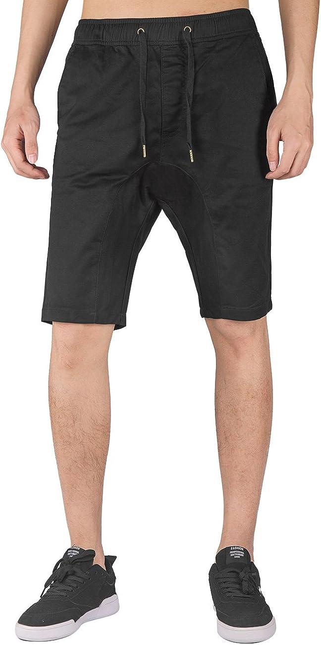 ITALY MORN Hombre Pantalones Cortos Chinos Ajustados con Cinturilla El/ástica