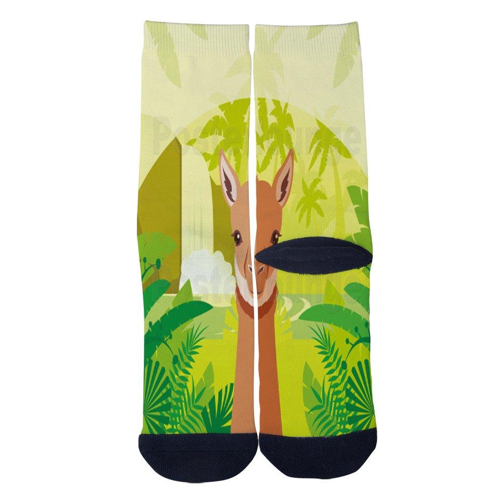 Poster Lebensraum Des Llamas Socks AlyGoo 3D Print Funny Custom Crew Casual Socks