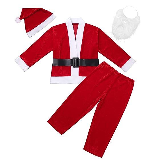 YiZYiF Conjunto de Papá Noel Niños y Niñas Disfraz Navidad Traje ...