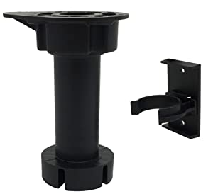 "Desunia Cabinet Leveler Legs - 330 Lb. Capacity per Leg - Adjusts from 3 7/8"" to 6"" - 12 Pack"