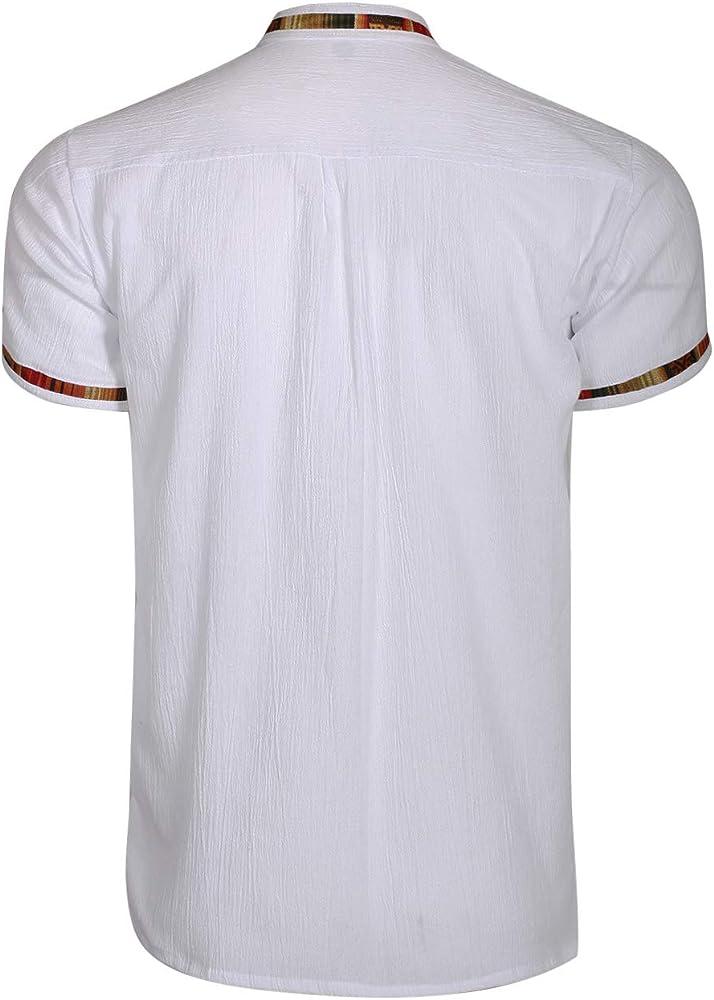 Volcan - Camisa de Manga Corta para Hombre, diseño Mexicano de Guayabera - - Large: Amazon.es: Ropa y accesorios