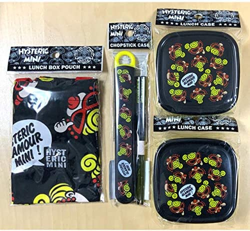 ヒスミニ HYSTERIC MINI ランチセット お弁当箱 容量300ml 2個 お箸&ケース お弁当袋 4点セット
