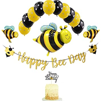 Bumblebee Party Decoration Bumble Bee Balloons for Honey Bee Themed Birthday Party Baby Shower Supplies