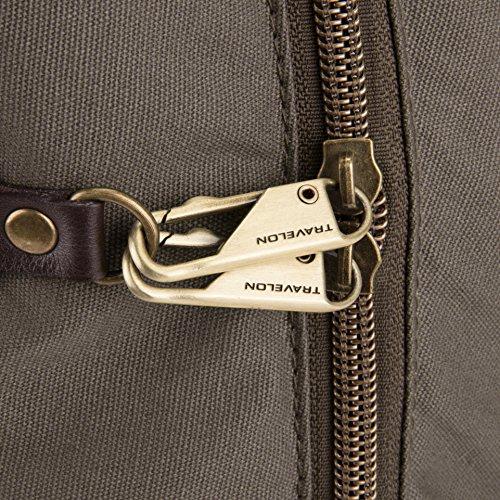 61mEV7tJv8L - Travelon Anti-Theft Courier Slim Backpack, Stone Gray, One Size