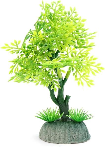 Plastic Tree Decorative Plant Ornament Aquarium Fishbowl Betta Tank Home Decors