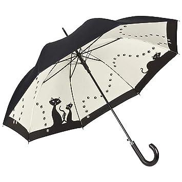 VON LILIENFELD Paraguas Automática Mujer Motivo Gatos Negros Doble Revestimiento: Amazon.es: Equipaje