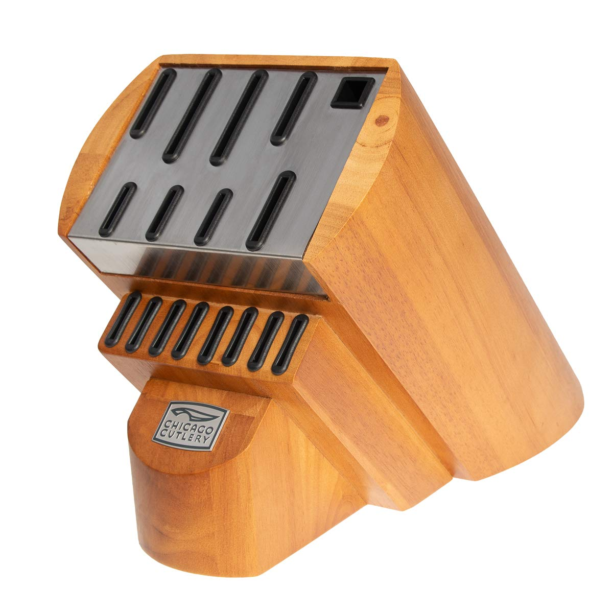 Chicago Cutlery Knife Block Without Knives 17 Slot Cutlery Organizer by Chicago Cutlery
