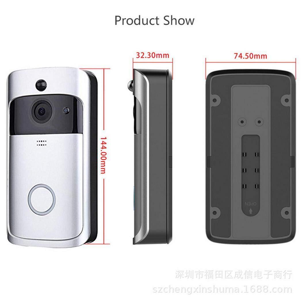 Bluefringe WiFi Smart Video Doorbell Camera Wireless Door Bell 720P HD Wireless Home Security Doorbell Camera with 32GB Storage Card(Not Included) by Bluefringe (Image #4)