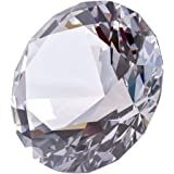 LONGWIN 80mm(3.1 inch) Crystal Diamond Paperweight Jewels Wedding Decorations Christmas Centerpieces Home Decor (Clear)
