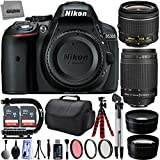 "Nikon D5300 24.2MP 1080P DSLR Camera w/ 3.2"" LCD - Wi-Fi & GPS Ready + 4 Lens - 18 to 300mm - 64GB - 30PC Kit - Nikon 18-55VR - Nikon 70-300G - Opteka 2.2x Tele - Opteka 0.43x Wide"