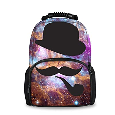 Coloranimal Men's Galaxy Backpack Universe Planets Printed Felt Bookbags for Kids