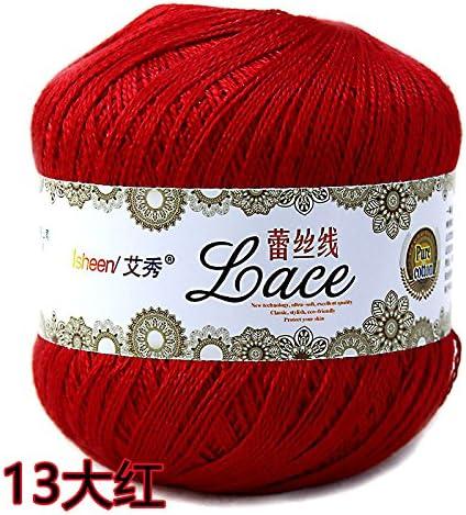 Fairy shop Hilo Crochet Puntilla Puntilla De Hilo De Algodón Hilado De Algodón De Verano Hilados Finos Hilos De Tejer De Mano,213 Rojo: Amazon.es: Hogar