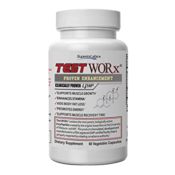 Amazon com: Superior Labs TEST WORx Natural Testosterone Booster