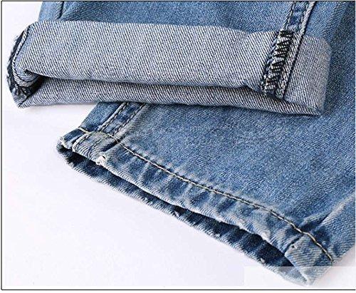 Bassa Donna A Color Vita Pantaloni Jeans Distrutti One Minetom Casuale wBXq6HqO
