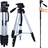 "Albott 70"" Travel Portable DSLR Camera Tripod Monopod Flexible Head for Canon Nikon with Carry Bag"