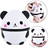 "CETIM 5.5"" Jumbo Squishies Cute Panda Egg Kawaii Scented Slow Rising Squishies Stress Relief Toy Hop Props, Decorative Props Large (Cute Panda)"