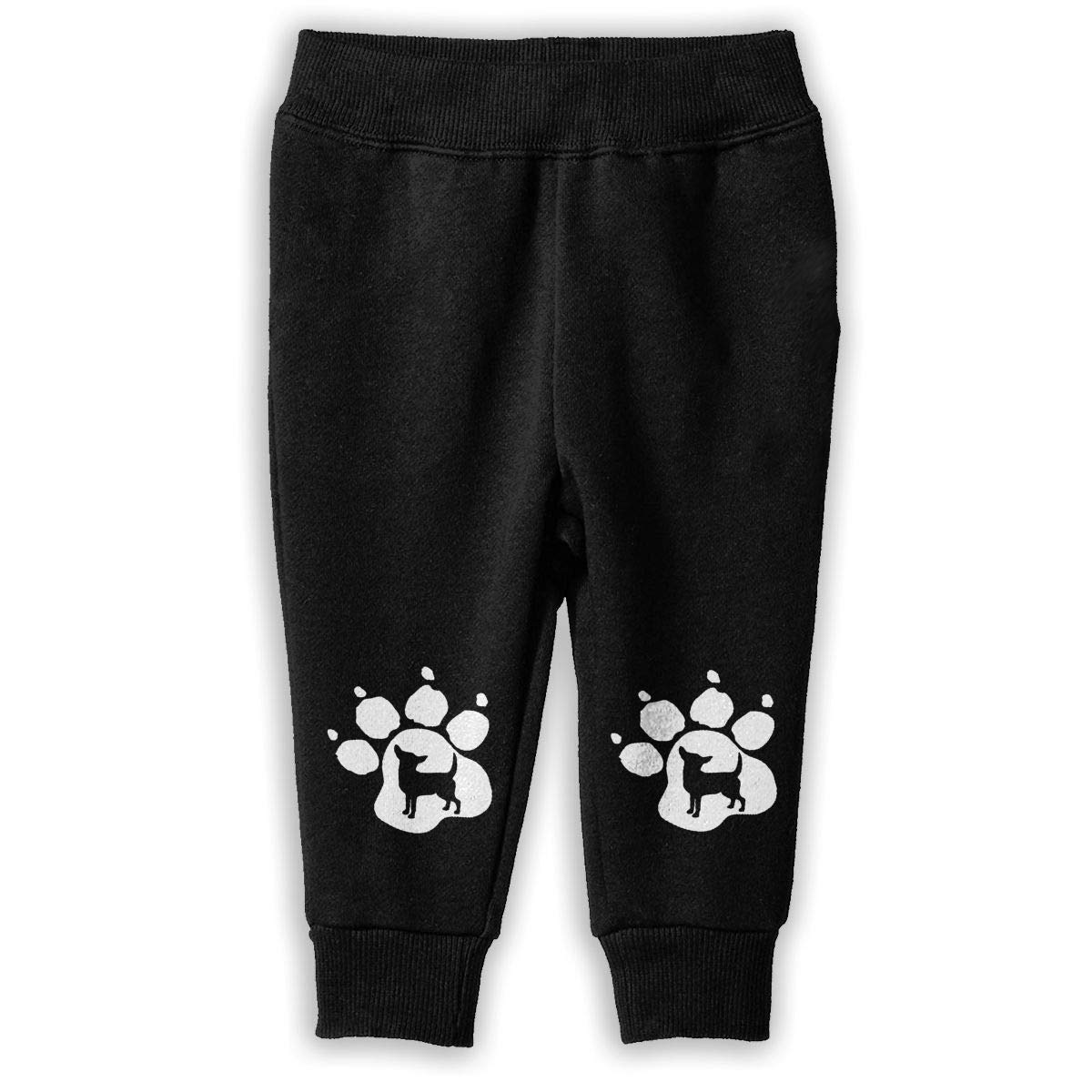 Little Girls Sport Jogging Pants Chihuahua Dog Pet Paw Sweatpants
