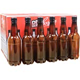 Coopers 500ml Amber PET Plastic Beer Bottles With Screw Caps Pack of 24.