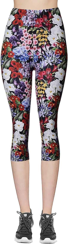 VIV Collection Print Brushed Ultra Soft Cropped Capri Leggings Regular and Plus List 1