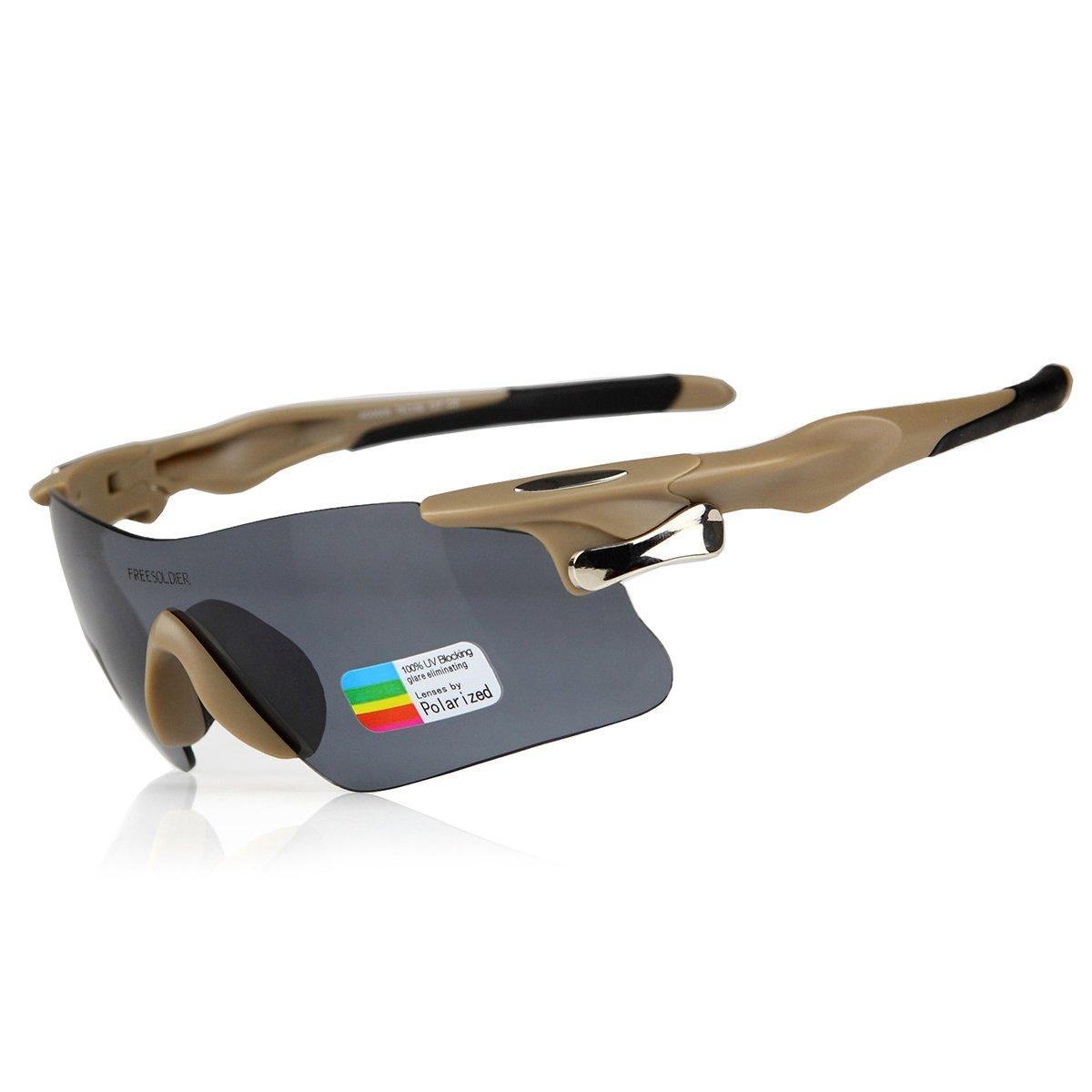 FREE SOLDIER Libre Soldado t/áctico Gafas de Sol polarizadas Gafas de conducci/ón Carreras de Ciclismo Deportes al Aire Libre Gafas de Sol