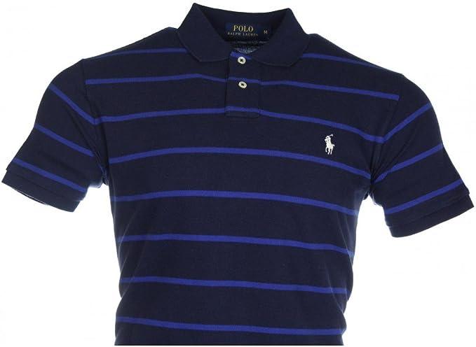 Polo Ralph Lauren para Hombre, diseño de Rayas, Color Azul Marino ...