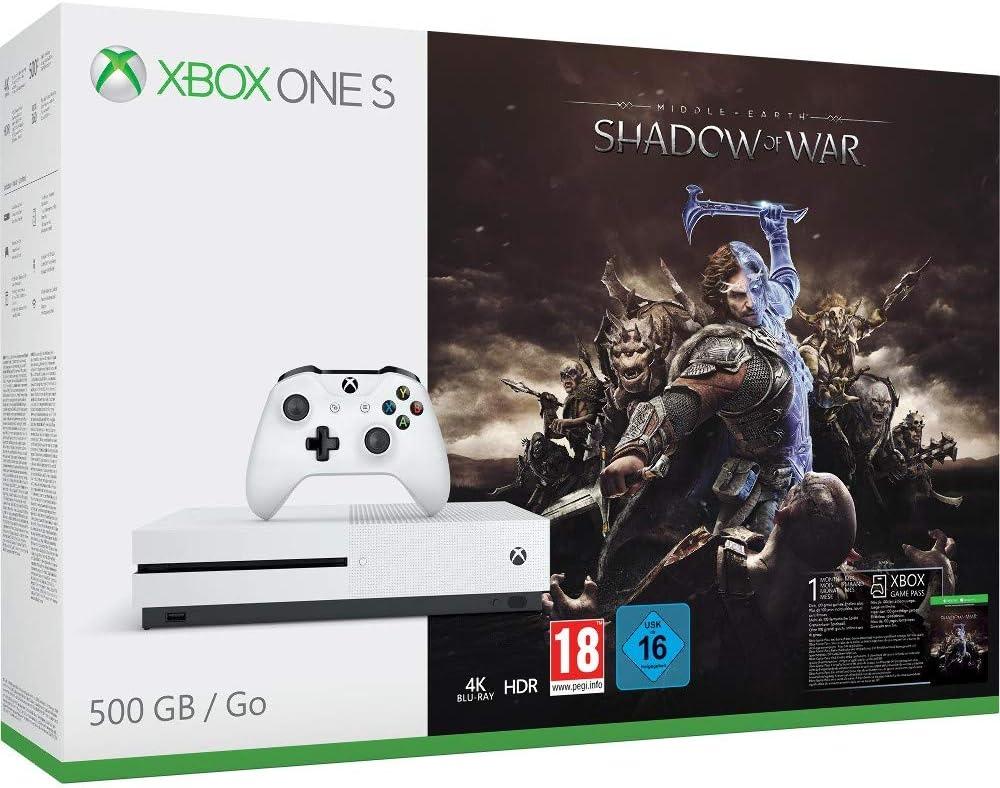 Xbox One S - Consola 500 GB + Sombras De Guerra + Game Pass (1M): Amazon.es: Videojuegos
