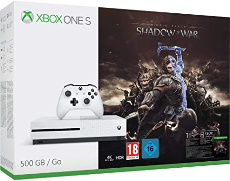 Xbox One S - Consola 500 GB + Sombras De Guerra + Game Pass (1M): Amazon.es: Videojuegos