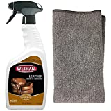 leather cleaner for clothes - Weiman Leather Cleaner and Polish With Microfiber Cloth - Clean and Condition Car Seats, Shoes, Couches and More - 22 Fluid Ounces