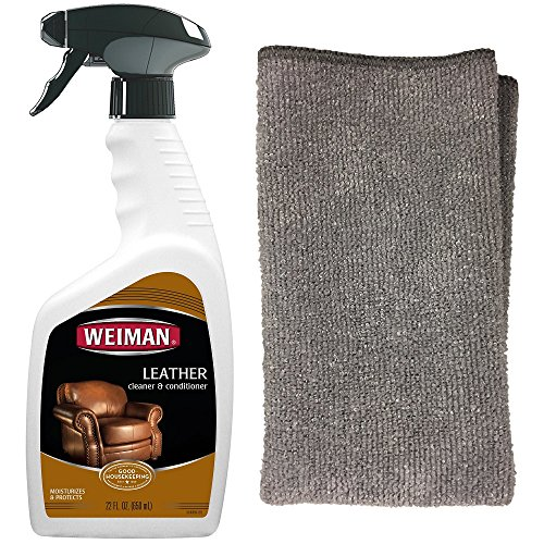 [해외]Weiman Leather Cleaner 및 Polfish with Microfiber cloth - 깨끗하고 상태가 좋은 카시트, 신발, 소파 및 기타 - 22 온스/Weiman Leather Cleaner and Polish With Microfiber Cloth - Clean and Condition Car Seats, Shoes, Couches and More - ...