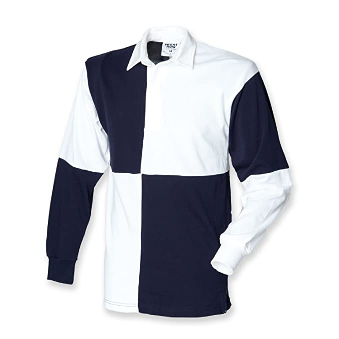 b5774d2954e Front Row Mens Quartered Rugby Shirt: Amazon.co.uk: Clothing