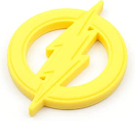 Bumkins DC Comics The Flash Silicone Teether, Textured, Soft, Flexible, Bacteria Resistant