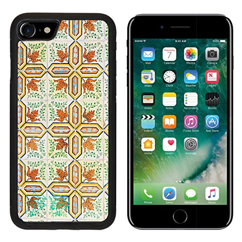 Tile Decorated (Luxlady Premium Apple iPhone 7 Aluminum Backplate Bumper Snap Case iPhone7 IMAGE ID: 26268846 Close up image of the beautifully decorated tiles on the houses in the streets of Lisbon Portugal)