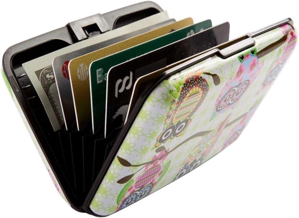 ulooie Creative Eule Business ID Kreditkarte Fall Halter blockierender Box