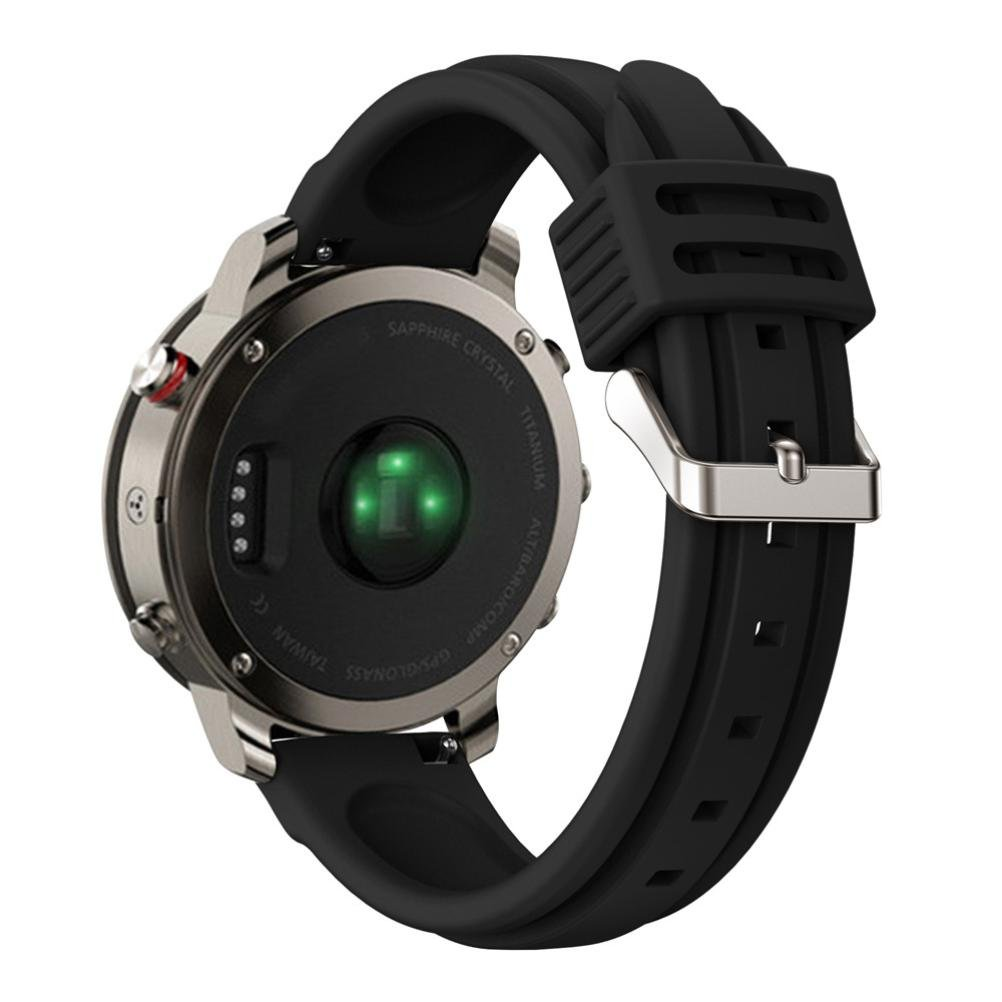 Silliconeバンドの腕時計、RTYOu ( TM )交換用シリコンソフトバンドストラップfor Garmin Fenix Chronos GPS Watch  ブラック B077TVH457