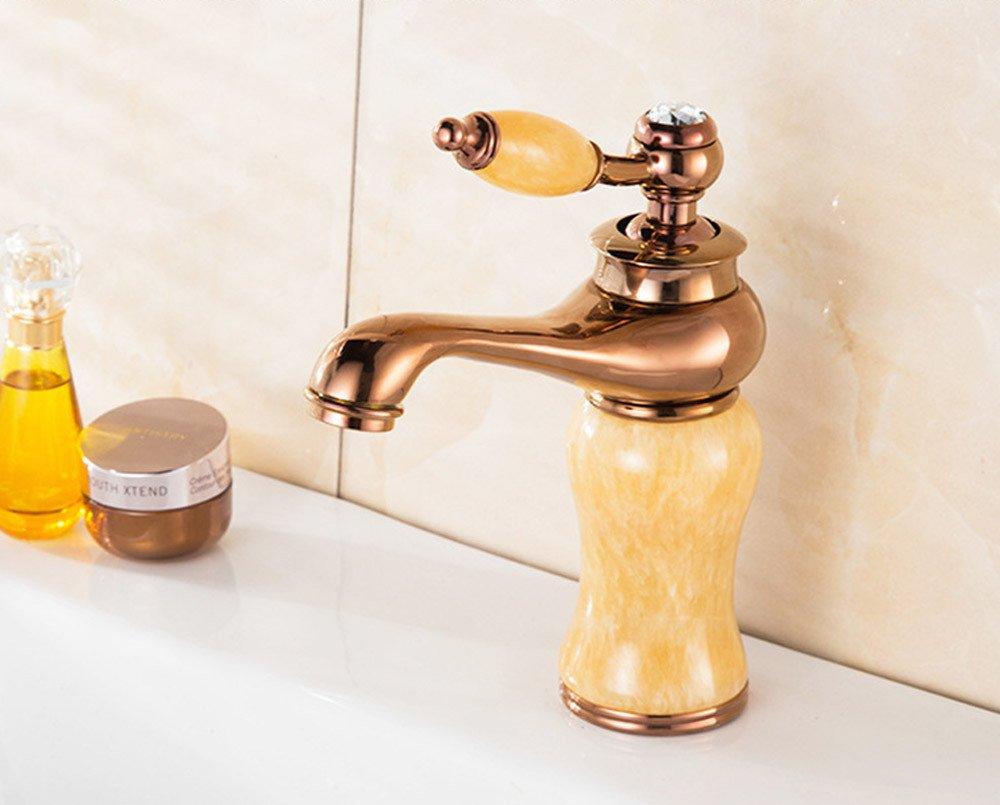 Aawang Messing Antik Bowlder Deck Mount Badezimmer Waschbecken Wasserhahn Vanity Vessel Sinks Mixer Single Hähne Tippen Rosa Gold