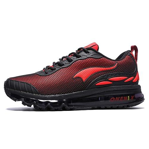 reputable site 338f3 5caae Onemix Uomini Air Cushion Scarpe Running Uomo Maglia Ginnastica Sportive  Outdoor Sneakers Palestra Tennis Scarpe da Corsa  Amazon.it  Scarpe e borse