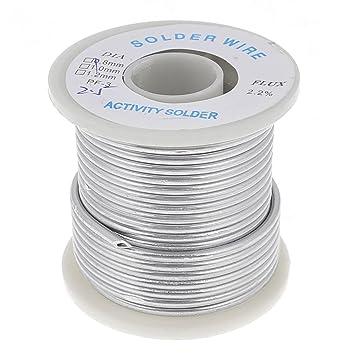 0,25 cm 2,5 mm diámetro de hilo de estaño de soldadura Core cable carrete aleación de bobina: Amazon.es: Bricolaje y herramientas