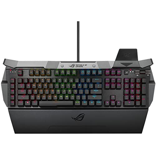 Asus ROG GK2000 Horus RGB Gaming Tastatur (Aura, mechanisch, Cherry MX red switches) schwarz