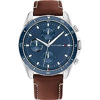 Tommy Hilfiger Men's Analog Quartz Watch with Leather Strap 1791837