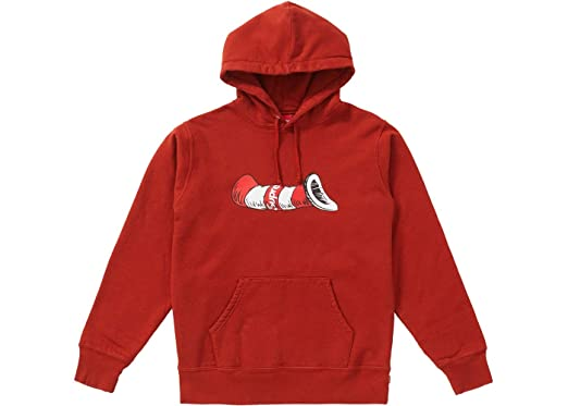 4fc78755cc8 SupremeNewYork Supreme Cat in The Hat Hoodie Hooded Sweatshirt Red FW18  100% Authentic Real -