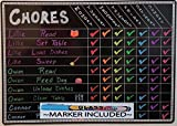 "Chore Charts for Kids Multi Use Magnetic Dry Erase Board Responsibility Behavior Chart Menu Planner to Do Calendar 12""x17"""