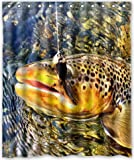 Fly Fishing Shower Curtain Shower Curtain 60