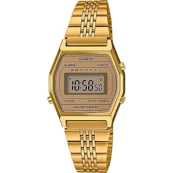 Casio Reloj Digital para Mujer de Cuarzo con Correa en Acero Inoxidable LA690WEGA-9EF: Amazon.es: Relojes
