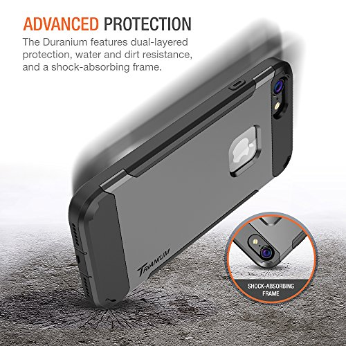 Trianium iPhone 7 Case [Duranium Series] Heavy Duty Ultra Protective Hard Cover Shock Absorption w/ Built-in Screen Protector+ Holster Belt Clip Kickstand for Apple iPhone 7 2016 -Gunmetal (TM000181) by Trianium (Image #2)
